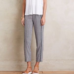 ANTHROPOLOGIE HEI IKAT DRAWSTRING PANTS